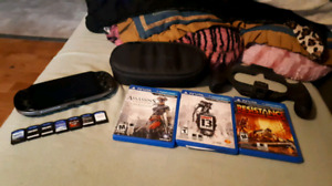 Ps vita 10 games 2 cases and nyko grip