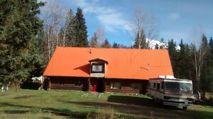 Relocate to Rural Prince George for Large Loghome Multi Family
