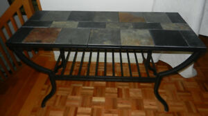 DESSUS EN ARDOISE TABLE CONSOLE/SOFA TABLE SLATE SLATE TABLETOP