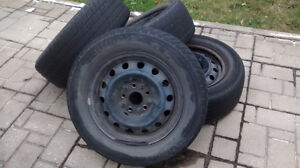 Toyota Rims set of 4, 15 inch with tire on