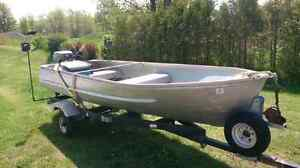 12ft boat,  motor and trailer.