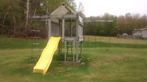 Fort and swing set