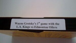 VHS tape - W. Gretsky's 1st game with L.A. Kings vs Oilers