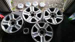 """17"""" Ford truck rims, caps and nuts"""