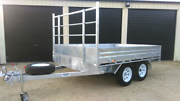 10X7 Galvanized Flat Deck Trailer Wilsonton Toowoomba City Preview