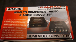 Hdmi to component video and audio converter