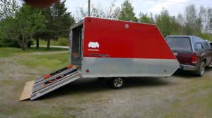 Triton Aluminum 12 ft snowmobile trailer.