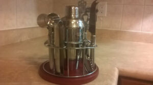 Stainless Steel Bartender Martini Shaker 8 pieces