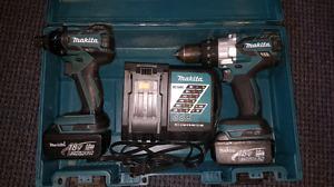 Makita Cordless impact drill combo