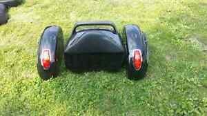 Saddle bags and luggage trunk