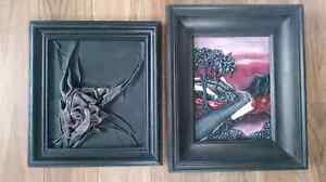 """Vintage Leather Art """"Paintings"""" - Made in Poland"""
