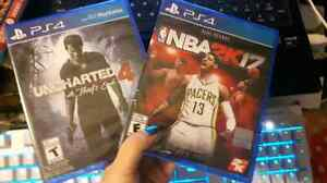 *NEW*NEUF*SEALED* NBA2K17, Uncharted 4 for PS4