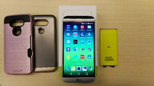 Mint Condition Unlocked LG G5 - with 2 Cases and Extra Battery