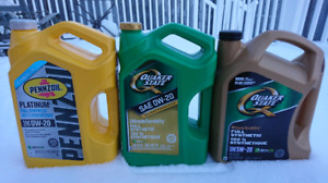 Partial Jugs of Synthetic Motor Oil
