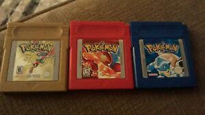 Gameboy Pocket + 10 Games (including Pokémon Gold, Red, Blue)