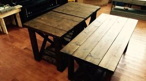 Rustic Muskoka coffee tables and end tables for sale
