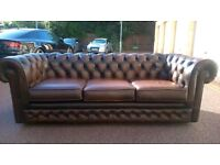 Thomas Lloyd three seater Chesterfield sofa free London delivery