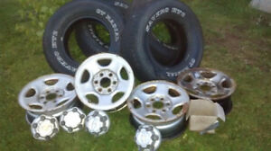 Chevy rims and tires 245/75/16