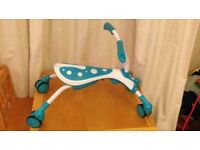 Blue kids toddler scuttle scramble bug ride on