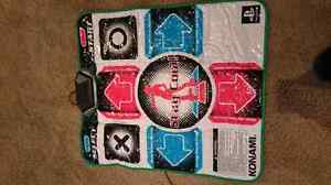 Dance dance revolution DDR mat and 2 games for playstation 2