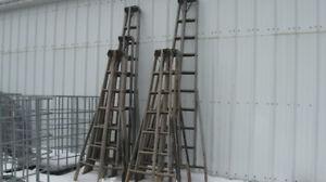 Vintage picking ladders