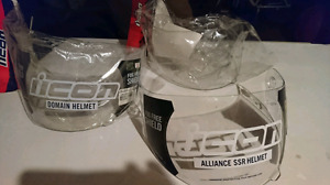 Icon clear visors. Never used. Model IC-09