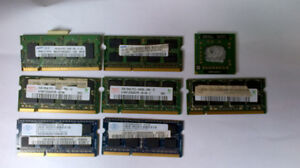 laptop memory for sale and a keyboard