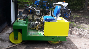 Lawn roller with trailer