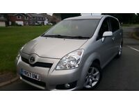 TOYOTA COROLLA VERSO SR 2.2 D-4D 7 SEATER LOW MILES 65K WARRANTED FSH BARGIN £4350 ONO