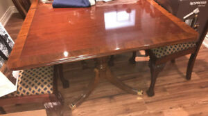 Dining Room Table, Sideboard, and Chairs - $3,000