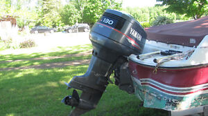 four winns bow rider with 130hp outboard