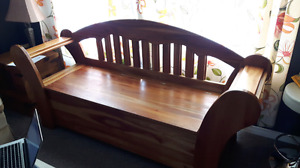 Solid Cherry Storage Seating