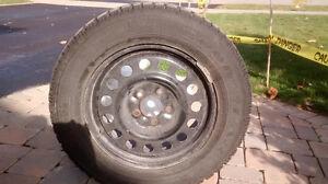 Winter Tire Set on Steel Rims P225 60R 16 Belleville Belleville Area image 1