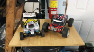 Rc truck and buggy and parts.