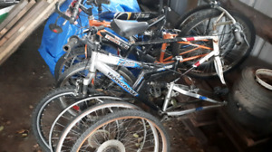 Some bikes and parts