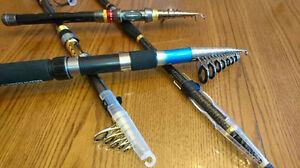 Canne à pêche télescopique carbone neuf 3,6 mètre et plus