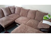 Brand new settee and pouffe