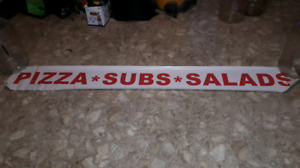 """8' x 12"""" BANNER - PIZZA SUBS SALADS NEW!"""