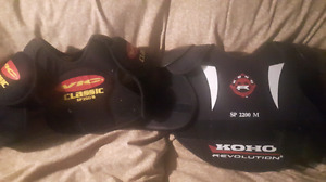 Boys shoulder and chest pads