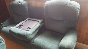 Reclining couch and chair.