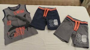 3 Pce Boys Mexx With 2 Shorts & 1 Top Grey & Navy Size 5 Years