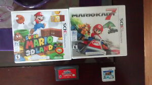 Nintendo Gameboy and 3DS games
