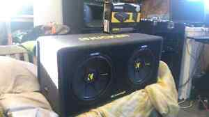 """2 12 """" Kickers Comp S With 600W Amp"""