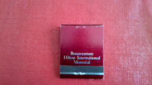 Matchbook Cover-Bonaventure Hotel, Montreal Kitchener / Waterloo Kitchener Area image 1