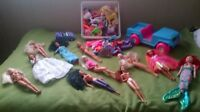 11 Barbie's, Jeep, Car and lots of Accessories and Clothes