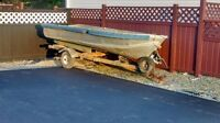12' aluminum boat with trailer