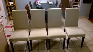 6 Kitchen Chairs with covers