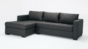 Grey Sectional - EQ3 Porter Sectional Sofa