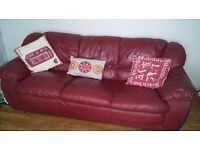 FREE!! Red Leather Sofas