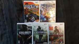 5 Wii Games - $10.00 for All